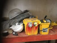 3 and 5 Kva Transformers, 110V lighting and Extension leads- in Excellent Working Order