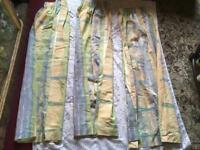 3 pieces window curtains size W130 L140cm each one Used v.good condition £6