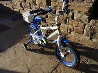 BOYS 14 INCH POLICE BIKE WITH STABILIZERS(PORT TALBOT AREA)