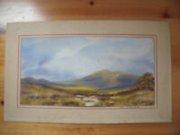 Signed Jill Stafford original unframed painting - watercolour on card. £25 ovno