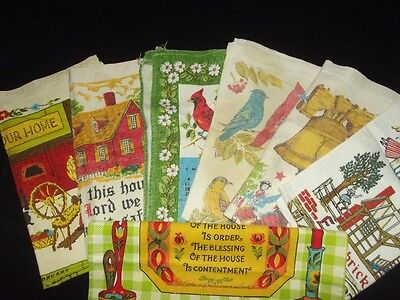 Vintage cloth calendars on Rummage
