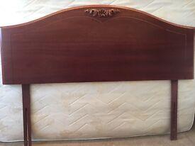 Cherry wood headboard