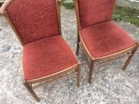 Two pub/restaurant chairs