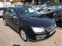2007/07 FORD FOCUS 1.8 TDCI SPORT,BLACK,5 DOOR,EXCELLENT CONDITION,LOOKS AND DRIVES REALLY WELL
