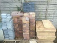 Number of Block paving bricks and Garden paving tiles (Bulk sale)