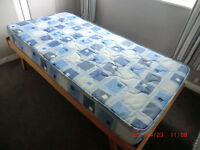 SINGLE BED, FOLDING, WITH MATTRESS & MATTRESS COVER