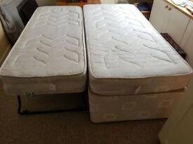 Single bed with pull out underbed