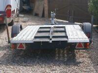 Car transport trailer. Smart Car, Small Car