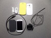 One Unlocked Working Samsung Galaxy S3 Mini GT-18200N Mobile Phone and Accessories
