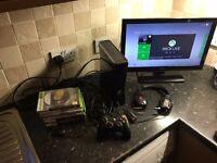 Xbox 360 + Games + Triton Headset