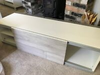 IKEA BESTA TV wall units with bespoke rail and lights