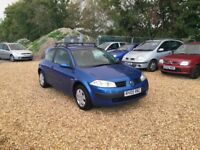 2005 Renault Megane 1.4 1 Years MOT Service History Low Milage Cheap Car