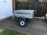 Erde 122 Car Trailer with a spare wheel