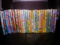 JOB LOT OF KIDS DVDS, USED BUT IN WORKING ORDER, ALL HAVE COVERS.