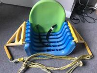 Multi stage swing seat