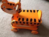 Carousel wooden tiger racer