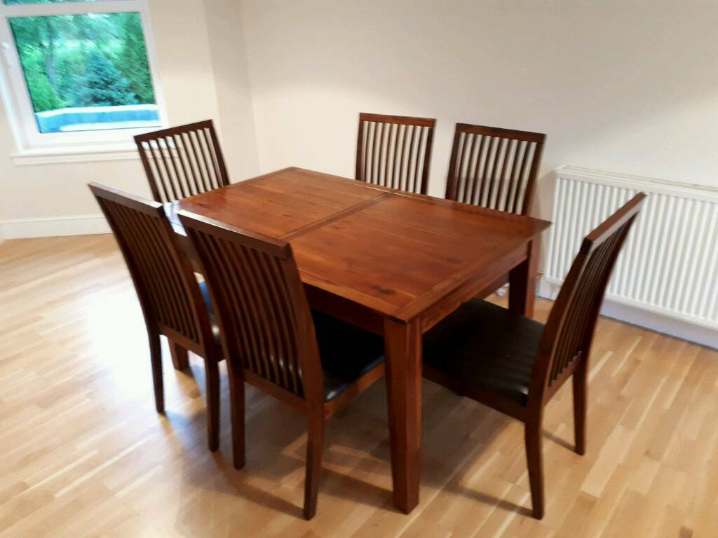 Debenhams Dark Wood Dining Table  Chairs