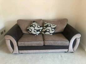 **SOFA, SWIVEL CHAIR & FOOT STOOL