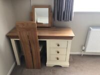 Oak furniture Land country cottage dressing table