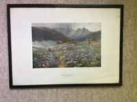 Framed print of painting by JOHN MACWHIRTER - £5