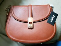 Dune tan saddle bag