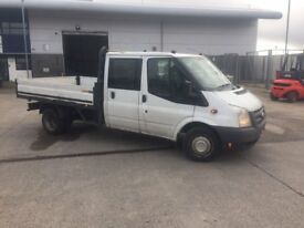 2012 Ford Transit T350 125 Double Cab dropside truck van