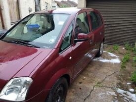 Vauxhall Meriva 04 cheap car 1 year MOT Spares and repairs. NOT Zafira, Verso or Picasso