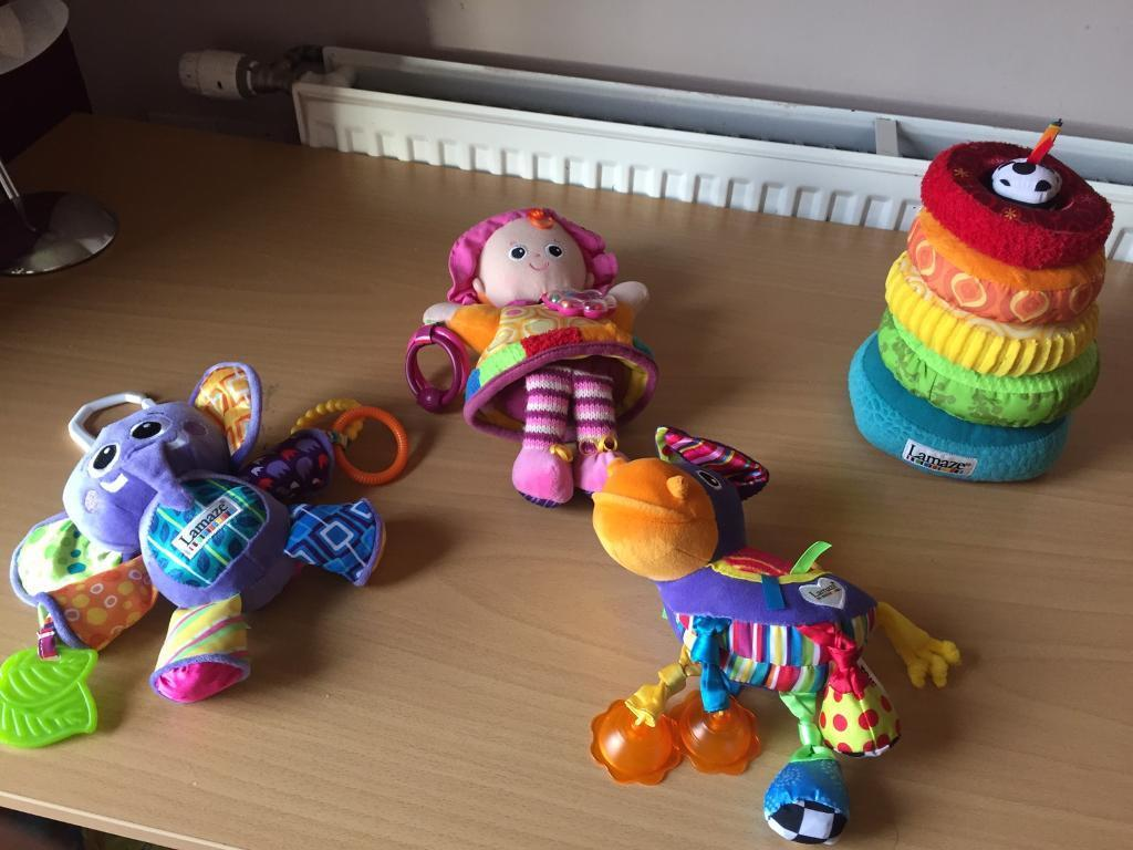 Bundle of interactive lamaze toys for baby- all in Great