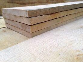 2.4 Meter Long Oak Sawn Boards