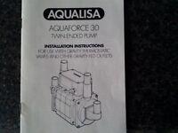 Aqualisa Aquaforce 30 Twin Ended Shower Pump