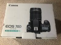 Canon EOS 70D + 50mm Lens + Battery Charger + Case