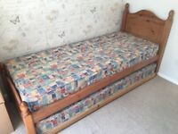 Single Bed with additional pull out bed beneath to covert to double