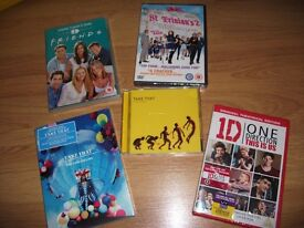 Selection of Unopened DVD's & CD - Take That / 1D / Friends / St Trinians