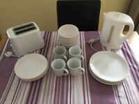 Dinner set with small appliances