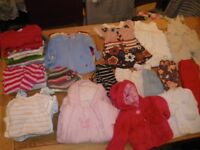 HUGE WARDROBE BUNDLE OF GIRLS' BABY CLOTHES AGE 3-6 MONTHS V.G.C. INC. NEW & UNUSED ITEMS
