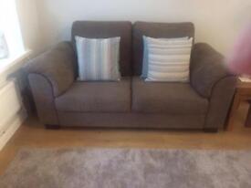 Ikea Tidafors 2 seater brown sofa.