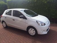 Mitsubishi Mirage 1, White, 2015, Still under warranty till 2018