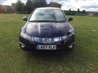 Honda Civic 2.2 CTDI EX-1 5dr 6SPD (07 REG)- LOW MILEAGE ONLY 86K + 12 MONTHS MOT + TOP SPEC