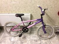 "GIRL CHILDREN KIDS VIBE ENVY 20"" WHEEL 11"" FRAME BACK BRAKES ARE COASTER BRAKES BMX BIKE BICYCLE"
