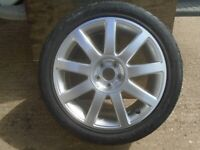 AUDI 17 inch ALLOY WHEEL & TYRE BRAND NEW 225/45/ZR17 . NEVER BEEN ON ROAD (1 ONLY)
