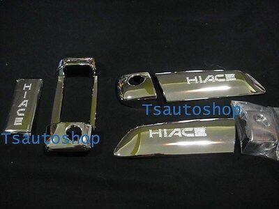 2Sets Chrome 3Dr Handle Hand Cover Trim For Van Toyota Hiace Commuter 2005 2013
