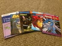 Younger boys books x 5, including Batman, Ironman, TMNT