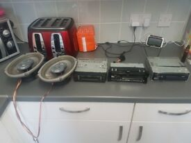 Big exhaust jvc car stereo also sony plus speakers