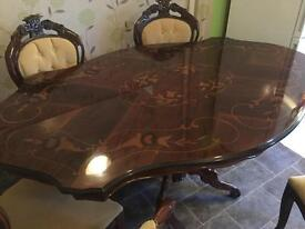 Italian lacquered dinning room table