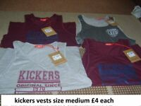 mens kickers vests £4 each, more pics in ad