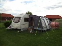 Kampa Rally Club 330 caravan awning with poles