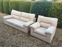 Italian Fabric Sofas Excellent Condition , Brand New Looking, Free Delivery In Norwich.