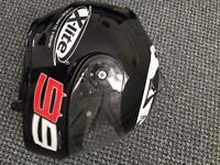 Motorbike helmet with go pro mount