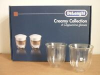 Delonghi Creamy Collection Cappuccino Glasses x6