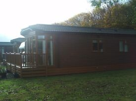 Wooden 2 bed holiday lodge Bockenfield Country Park nr Morpeth